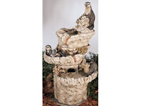 Henry studio three tier sea otter water feature with pump and detacheable otters