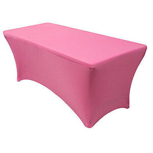 Your Chair Covers Rectangular Fitted Stretch Spandex Table Cover