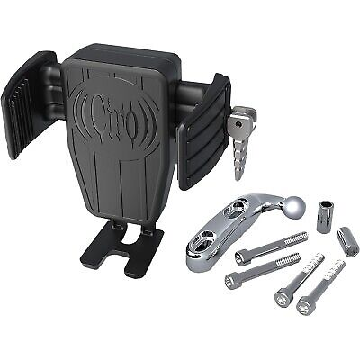 Ciro 52310 Cybercharger Phone Holder with Wireless Fast Charger w/ Chrome Mount