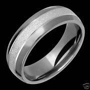 Mens White Gold Wedding Rings
