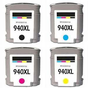 NEW 4pk For HP 940 XL Ink Cartridge Set Officejet Pro with chip
