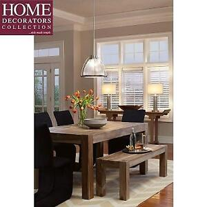 NEW HDC EDMUND DINING TABLE - 128983215 - HOME DECORATORS COLLECTION SMOKED GREY
