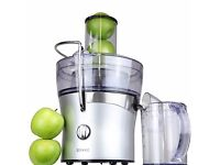 Duronic JE7 Compact Silver Whole Fruit Centrifugal Power Juicer with Jug