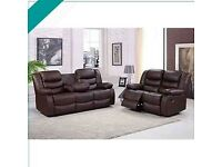 💖🎉Don't wait.! Order Now - CHICAGO BROWN RECLINER 3+2 SEATER SOFA AVAILABLE With fast delivery🎉💝
