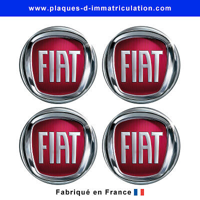 sticker fiat pour cache moyeu de jante lot de 4. Black Bedroom Furniture Sets. Home Design Ideas
