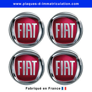 sticker fiat pour cache moyeu de jante lot de 4 ebay. Black Bedroom Furniture Sets. Home Design Ideas