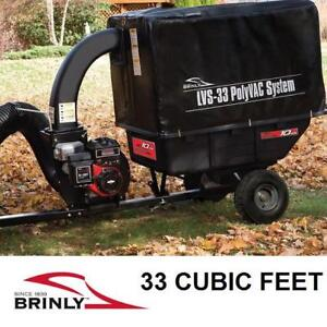 NEW BRINLY HARDY VACCUM SYSTEM - 130208542 - 205 cc 9.5 HP MOTOR POLY UTILITY CART VACUUMS CARTS LANDSCAPING LEAF VAC...