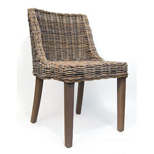 Brand New Hand Woven Kobu Rattan Dining Arm Chairs Lounge Chairs