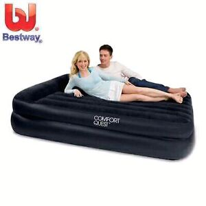 $125 Inflatable Bestway Black Queen Size Premium Air Bed Camping Prospect Prospect Area Preview