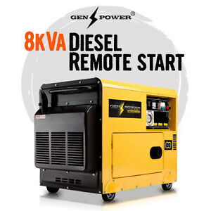 DIESEL GENERATOR SILENCED 8 KVA 3 PHASE SINGLE PHASE