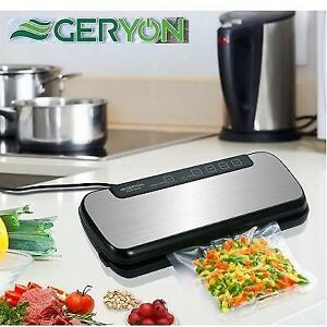 NEW GERYON VACUUM SEALER MACHINE 5700 202348983 FOOD SAVER STAINLESS STEEL COVER