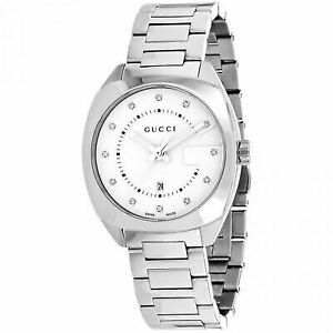 9667730df1e Gucci Gg2570 White Dial Stainless Steel Diamond Ladies Watch YA142403
