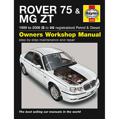 New Haynes Manual Rover 75 MG ZT 99-06 Car Workshop Repair Book 4292