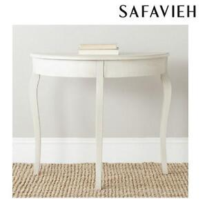 NEW SAFAVIEH WHITE CONSOLE TABLE SEMA ANTIQUE WHITE 105916994