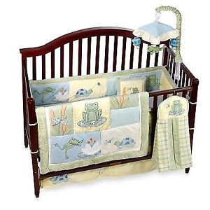 Crib Bedding Set & Matching Mobile Unit