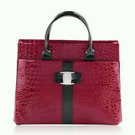 Brand new ladies handbag crocodile effect