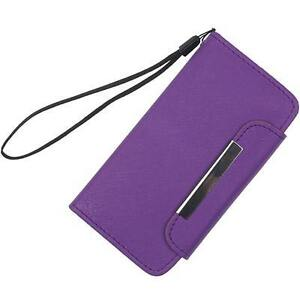 Purple Black Pouch Wallet Case Cover For Apple iPhone 5 15.00$