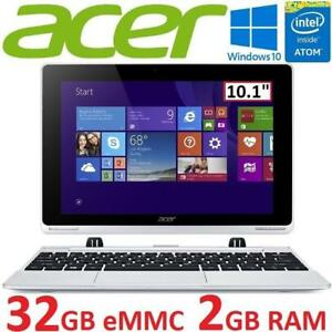 "NEW OB ACER ASPIRE 2IN1 NOTEBOOK PC - 133927594 - 10.1"" TOUCHSCREEN INTEL ATOM 2GB RAM 32GB STORAGE WIN10 NEW OPEN BO..."