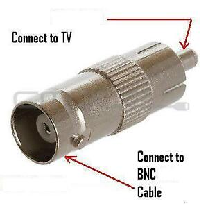 BNC TO RCA ADAPTER FOR TV VIDEO CABLE, CCTV CAMERA