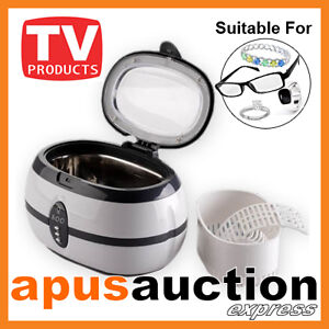 Ultrasonic Multi Purpose Sonic Wave Jewellery Cleaner Glasses Watch Cleaning New