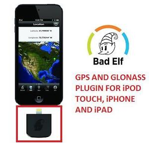 NEW BAD ELF GPS AND GLONASS PLUGIN FOR iPOD TOUCH, iPHONE AND iPAD - FOR LIGHTNING CONNECTOR - BLACK 107464308