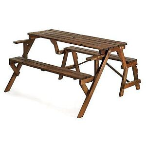 Pleasant Wood Convertible Garden Bench Picnic Table Ibusinesslaw Wood Chair Design Ideas Ibusinesslaworg