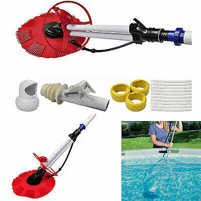 Automatic Swimming Pool Cleaner Vacuum Auto Inground Hover Climb Wall 10PCS Hose