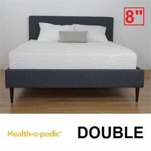 "NEW HEALTH-O-PEDIC MEMORY MATTRESS - 125319525 - DOUBLE 8"" COOLING GEL FOAM BED BEDS MATTRESSES BEDROOM BEDDING"