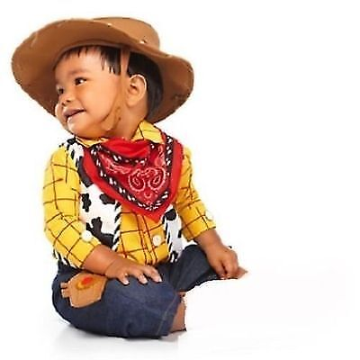 Disney Store Toy Story Woody Cowboy Costume Baby Toddler Infant 3-6mos NEW (Toddler Woody Costume)