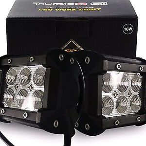 2 x led light bars 4 inch 18watt brand new in box very bright