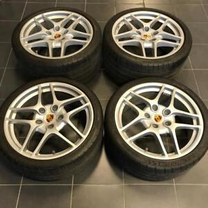 "19"" Porsche 997 wheels + Michelin Super Sport tires  911 996 996 Cayman Boxster"