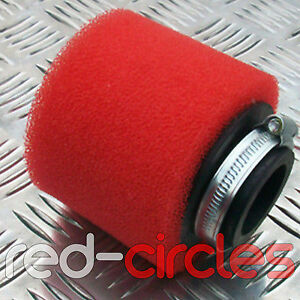 RED 45mm PIT DIRT BIKE PERFORMANCE DOUBLE FOAM AIR FILTER 125cc 140cc PITBIKE