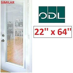 NEW ODL LIGHT TOUCH ENCLOSED BLINDS 302938 214010783 HP FRAME 22'' x 64''