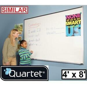 NEW QUARTET 4' x 8' DRY ERASE BOARD - 133819749 - MAGNETIC WHITEBOARD ALUMINUM FRAME BOARDS WHITENOARDS MESSAGE BULLE...
