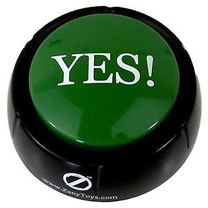 The Yes Button Electronic Voice Toy 12 Different YESS