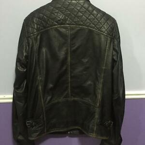 Danier Mens Leather Jacket - Biker Style Spring Price reduced! London Ontario image 2