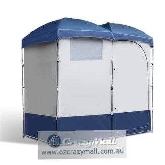 Waterproof Double Shower Tent Change Room with Carry Bag