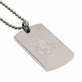 mens glasgow rangers necklace silver