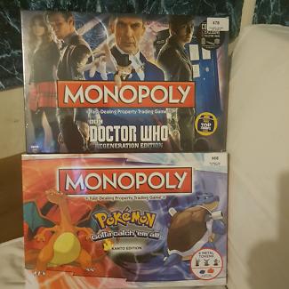 MONOPOLY POKEMON/ DR WHO