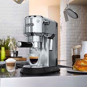 DeLonghi Dedica 15-Bar Pump Espresso Machine with Cappuccino