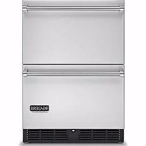 Réfrigérateur à tiroirs PRO 24'', Stainless, Brigade