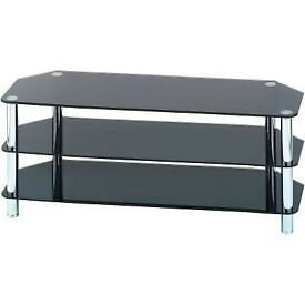 A Tempered Tv Stand In a Stunning condition ( Tv Stand Only)