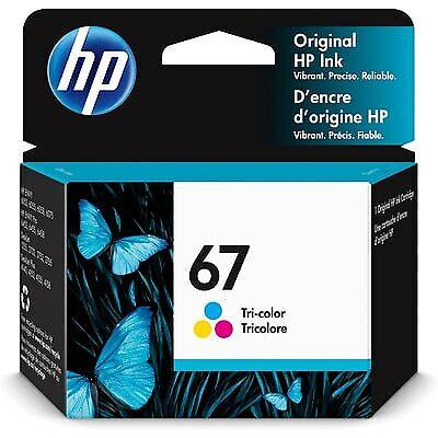HP 67 Original Ink Cartridge, Tri-color (3YM55AN)