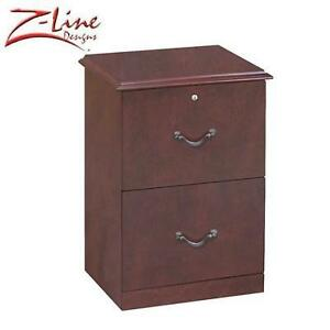 NEW Z-LINE 2-DRAWER FILE CABINET CHERRY FINISH - VERTICAL FILE CABINET 102190112