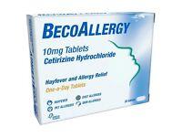 BecoAllergy Cetirizine Hydrochloride 10mg Tablets 30 Tablets