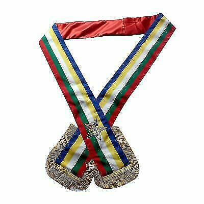 Masonic Order of the Eastern Star OES O.E.S SASH Five Colour