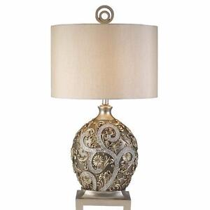 "Silver Vine 31.5"" Table Lamp by OK Lighting NEW"