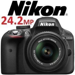 REFURB NIKON D3300 CAMERA  24.2MP - 132481515 - CMOS DIGITAL SLR CAM W/ 15-55MM ZOOM VR II LENS REFURBISHED