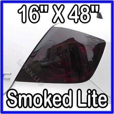 16 X 48 DARK SMOKE ORIGINAL PVC FILM TAILLIGHT COVERS SMOKED TINT OVERLAY c