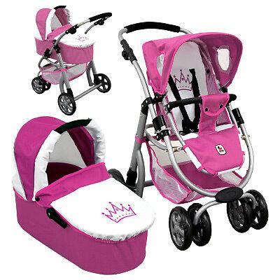Bayer Chic 2000 Puppenwagen Joyrider 2in1 Princess pink weiß Puppenbuggy Puppe